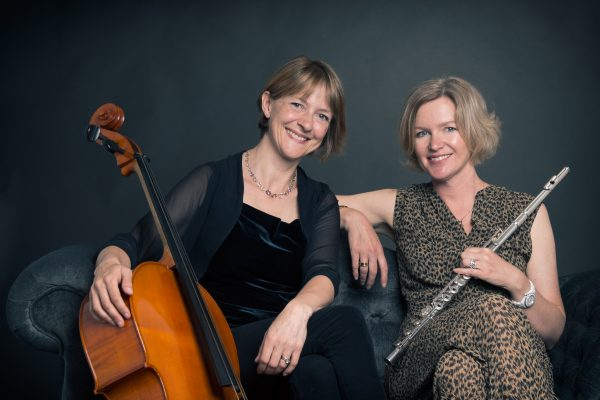 Classical musician portraits of Edinburgh based duo flautist and cellist, Spectrum.